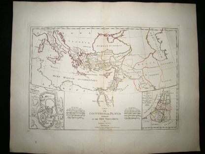 Countries in The New Testament, Judaea, Jerusalem, Cyprus 1794 Map, Dunn | Albion Prints